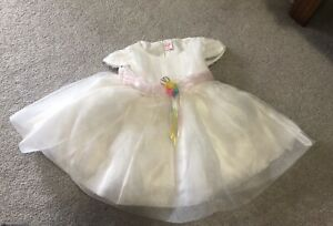 Pretty white wedding or party dress fits 9-18 months baby girl