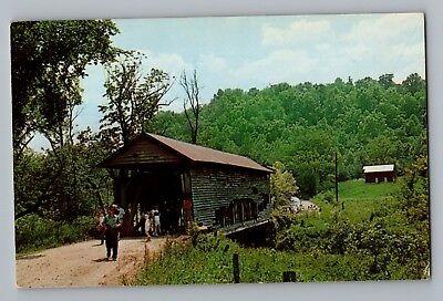 Liberty Township Ohio Covered Bridge Guernsey County Postcard (Liberty County Ohio)