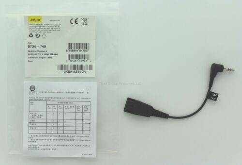 Jabra Adapter GN Netcom 8734-749 QD to 3.5 mm Stereo Plug - New