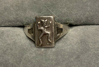 1940s Jewelry Styles and History Brownie Scout Ring, Vintage Sterling Silver, Adjustable, 1940's $15.95 AT vintagedancer.com