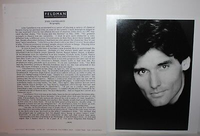 JOHN CASTELLANOS Actor Talent Agent Issued Photos and Bio 1990's