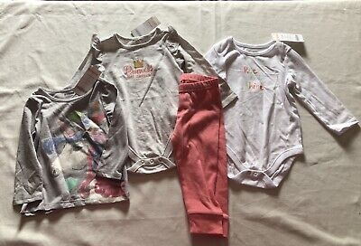 Gymboree NWT Lot of 4 Girls Fall/ Winter Long Sleeve Tops, PantsSize 12-18months