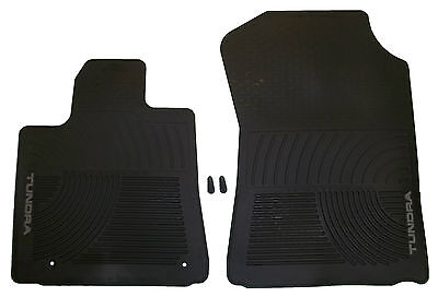 New Premium All Season Weather Rubber Floor Mats Black For Toyota Tundra