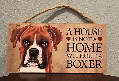 Boxer Sign Plaque Dog  Puppy Canine House Not A home K9 Bulldog Mastiff Dane