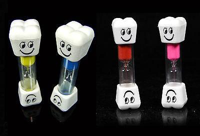 2er Set Zahnputzuhr lachender Zahn 3 Min Sanduhr Eier Uhr Zähne putzen Minuten