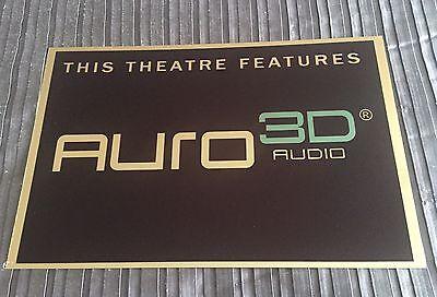 Auro 3D Audio Cinema Sign