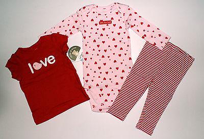 Carter's child ~USA~50-56~Shirt+Body+Legging~3 tlg~Herzen~Mädchen~süß~Love~rosa