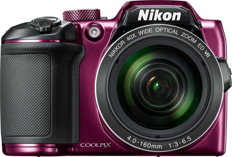 Nikon - Refurbished Coolpix B500 16.0-Megapixel Digital Camera - Plum