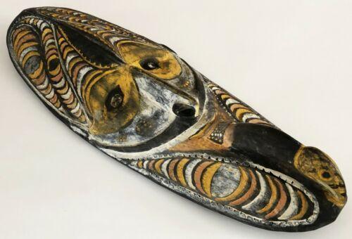 PAPUA NEW GUINEA SEPIK WOODEN TRIBAL ETHNOGRAPHIC SPIRIT BOARD MASK MWAI ART