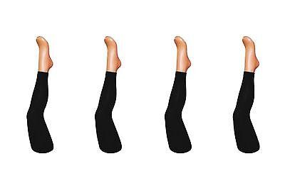 SCHWARZE BAUMWOLL LEGGINGS für Mädchen Kinder lang Leggins Gr.92 bis 158 °NEU° ()