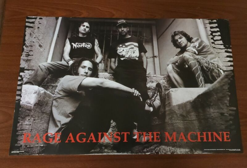 Vtg 1999 Rage Against The Machine Poster Deadstock NOS Funky Ent. Inc OG #6499