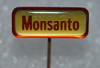 Monsanto Chemical Agriculture Seeds Gmo Vintage Stick Pin Badge Rare