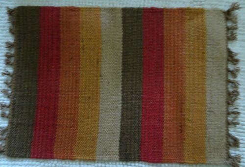 "Vintage Small  Native American Navago   rug 19"" L  X 14 "" W"