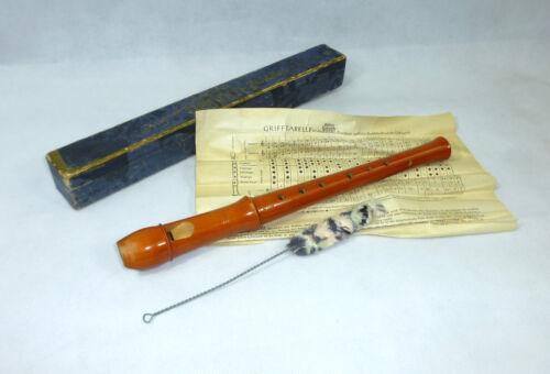 Fipple Flute in Original Box um 1940 Company Alexander Heinrich Flute