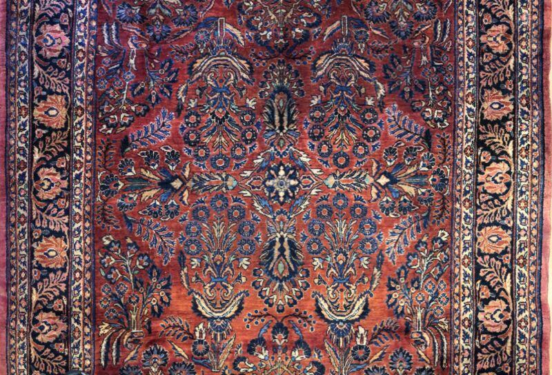 Fantastic Floral - 1920s Antique Oriental Rug - Handmade Carpet - 6.3 X 9.6 Ft
