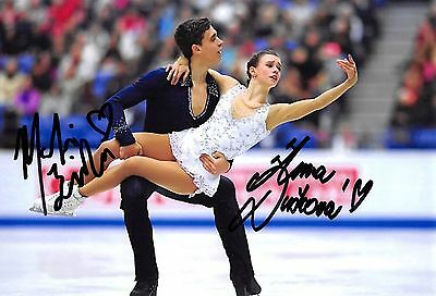 Anna DUSKOVA / Martin BIDAR - CZE - Eiskunstlauf - Foto orig. sig. (1)