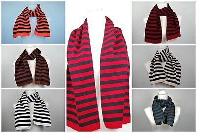 Fun Scarf (Scarf stripey  colored bright fun knitted Soft feeling fun alternative emo)