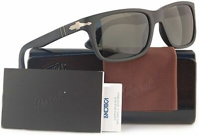Persol PO3048S Polarized Sunglasses Matte Black w/Crystal Grey (9000/58) (Persol Polarized)