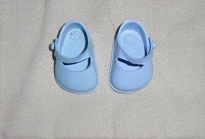 """Vintage 1950's VOGUE GINNETTE Blue Vinyl Mary Jane Shoes ~ 1 1/4"""" L ~CLEAN"""