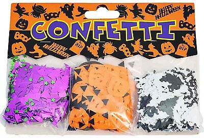 HALLOWEEN PARTY TABLE CONFETTI BATS PUMPKINS GHOSTS SET OF 3 SCARY SPOOKY DECOR - Halloween Party Table Setting