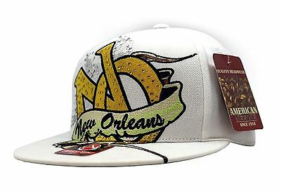 (New Orleans Edge Mardi Gas White Fitted Cap)