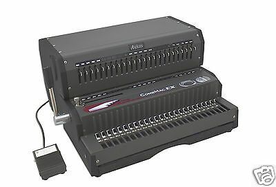 Akiles Combmac-ex24 Comb Binding Machine Electric Hole Punch 14 New