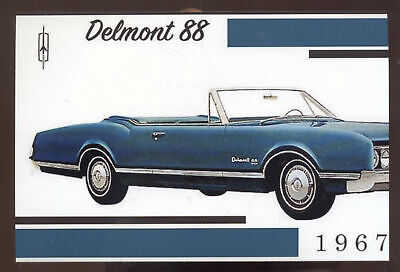 1967 OLDSMOBILE DELMONT 88 CAR DEALER ADVERTISING POSTCARD CCOPY