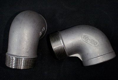 Stainless Steel Street 90 Elbow 1 12 Npt Pipe Se-150