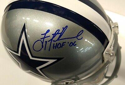 - Troy Aikman Autographed Dallas Cowboys Authentic Pro Line Helmet Beckett COA HOF