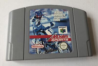 Jeremy McGrath Supercross 2000 N64 Nintendo 64 Loose Cartridge Only PAL