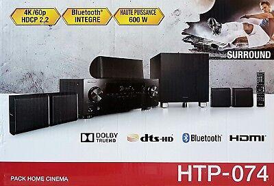 PIONEER HTP-074 5.1 Heimkinosystem AV-Receiver Lautsprecher schwarz (B5816)