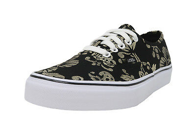VANS Authentic 50th Anniversary Duke Black Gold Foil Lace Up Sneakers Men (Anniversary Men Shoes)