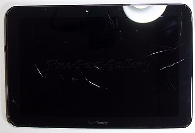 OEM VERIZON ELLIPSIS 10 QTAIR7 REPLACEMENT~WORKING LCD~CRACKED DIGITIZER~FRAME
