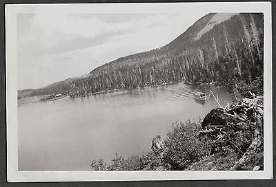 Ccc Canada 1935 Waterton Glacier International Peace Park Tourist Boat Old Photo