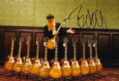 """Billy Gibbons """"ZZ Top"""" signed 8x12 inch photo autograph"""