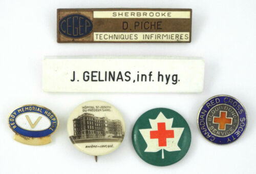 c.1970 - Lot of 6 VINTAGE - some STERLING SILVER - NURSING & HEALTH PINS