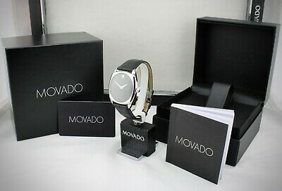 Movado Museum Swiss Automatic 25 Jewels Sapphire Crystal Leather Watch