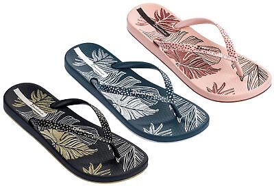 Ipanema - Ladies Anatomica Nature Leaf Thong Flip Flops, Beach, Pool Sandals