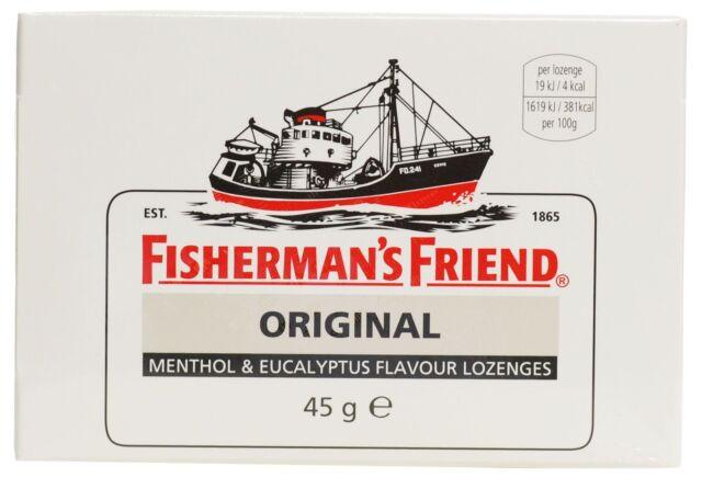 FISHERMAN`S FRIEND MENTHOL & EUCALYPTUS FLAVOUR LOZENGES - 45G *