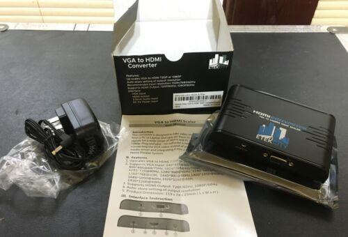 ETEKCITY Active VGA to HDMI Converter/Scaler 1080p/60/59.94 w/Audio Embed *ATEM*