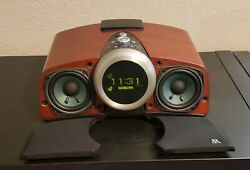 Acoustic Research ART1 Real Wood Clock Radio with Docking Station
