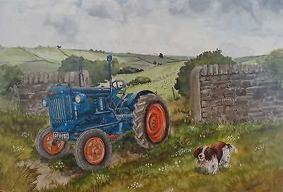 """Tractor Blank greeting card -Fordson Major Model E27N """"Fordson Major"""" for sale  Shipping to United States"""