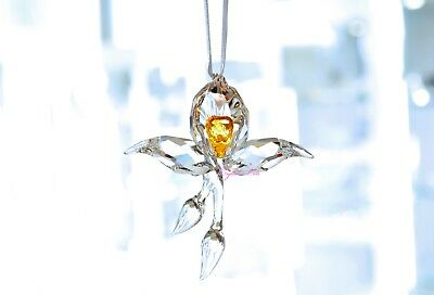 Swarovski 2018 SCS Event African Yellow Orchid Ornament 5301554 Brand New In Box
