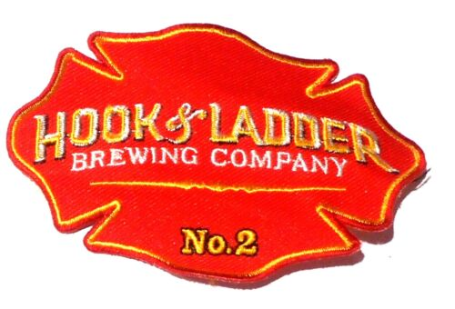 "Hook & Ladder Beer  Patch Embroidered Ale 4"" inch"