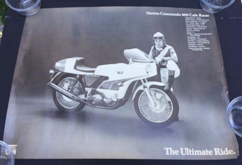 Lot of 4 Original Vtg Authentic Norton Commando 850 Motorcycle Posters Ads 17x22