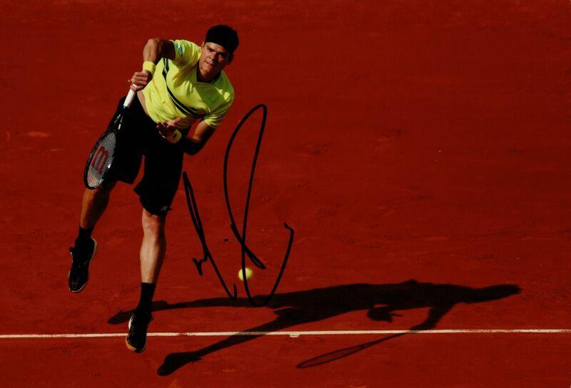 Milos Raonic Signed 12X8 PHOTO Genuine Autograph AFTAL COA (A)