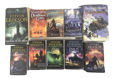 A Tale of the Malazan Book of The Fallen By Steven Erikson Complete Set 10 Books