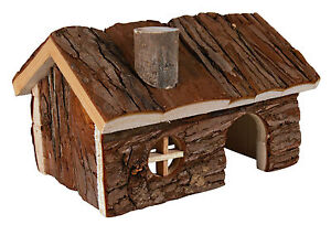 Large Hendrik House Natural Wooden Home for Hamsters Rats Degus 20cm