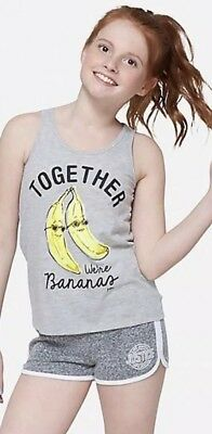 Teen With Banana (Justice Girl's Size 6 TOGETHER WE'RE BANANAS Keyhole Tank New with)