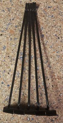 Lot Of 5 Retail Metal Shelf Brackets For Slat Wall Display